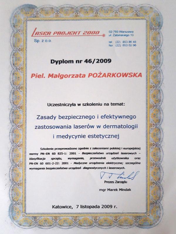certyfikat uczestnictwa w szkoleniu