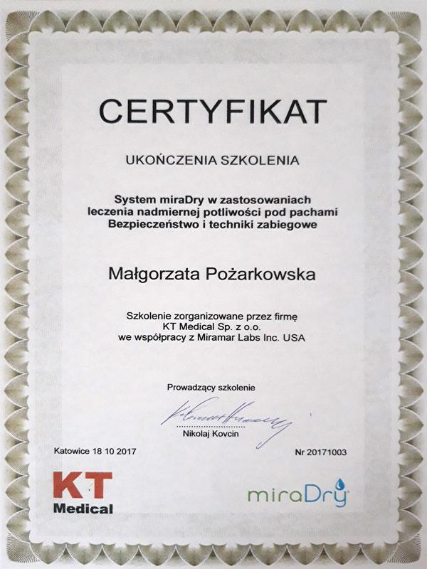 certyfikat ukończenia szkolenia
