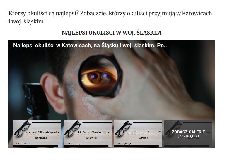 Najlepsi okuliści na Śląsku i woj. śląskim