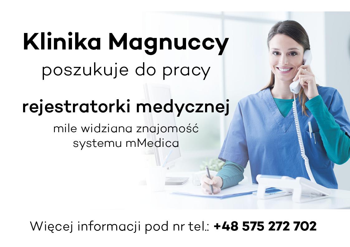 Oferta pracy – recepcjonistka medyczna